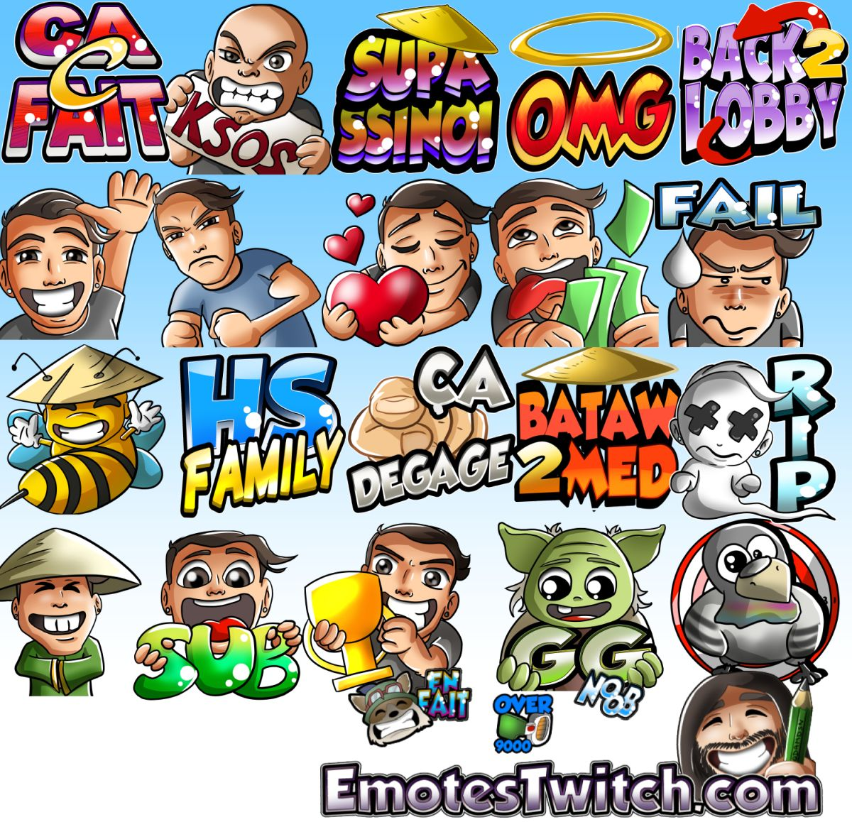 Twitch emotes for @Hackstyl - Custom emotes and badges for Streamers